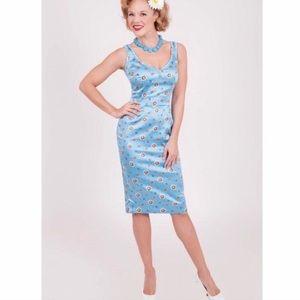 Bettie Page by Tatyana Blue Daisy Wiggle Dress
